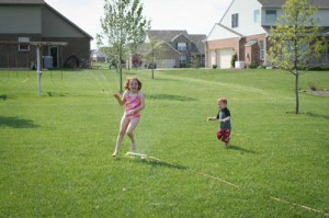 Sprinklers generate happiness...